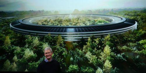 苹果飞船总部要种9000棵树 和附近公园展开抢树大战